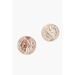 Roman Wreath Coin Stud Earrings