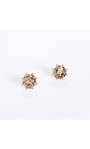 Roman Coin Stud Earrings
