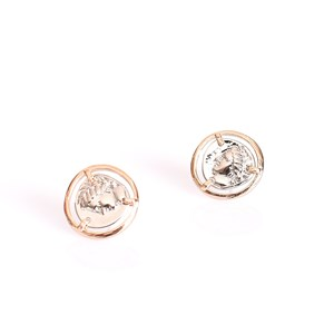 Two Tone Roman Empress Stud Earrings