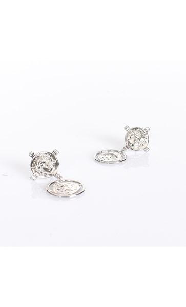 Double Roman Coin Stud Earrings