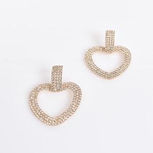 Diamante Heart Drop Earrings