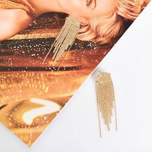 Diamante Strand Earrings