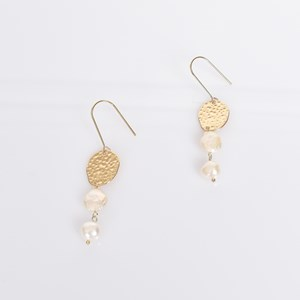 Freshwater Pearl Drop Thread Through Earrings