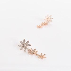 CZ Flower Drop Midi Earrings