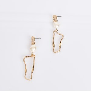 Pearl Geo Drop Earrings