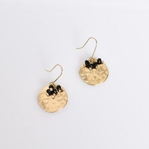 Mini Bead Cluster Disc Earrings