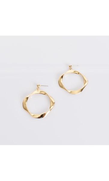 Twisted Ring Stud Earrings