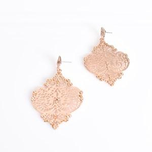 Diamante Filigree Drop Earrings