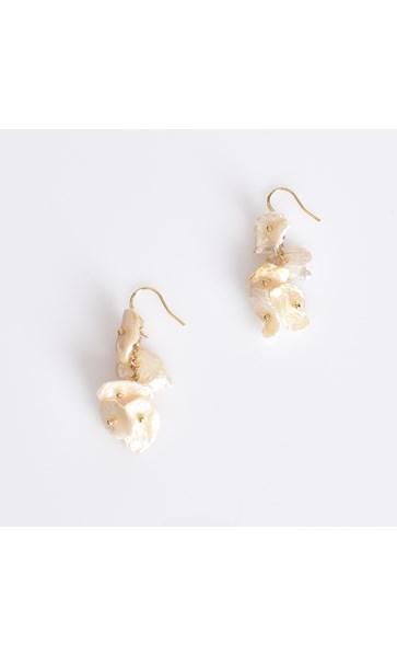 Pearl Disc Strand Hook Earrings