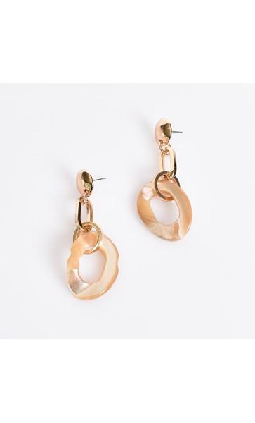 Shell Linked Drop Earrings
