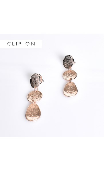 Metal Stud Clip On Earrings