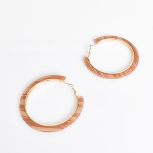 Joanna Metal Lined Resin Earrings