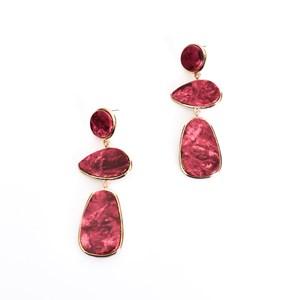 Marble Look Drop Earrings
