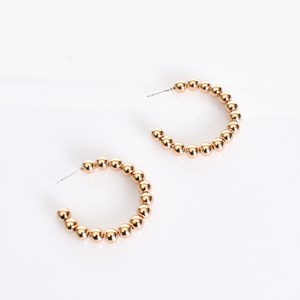 Mini Ball Hoop Earrings