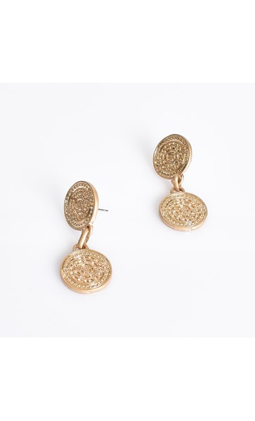 Double Ancient Disc Earrings