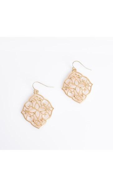 Eastern Filigree Drop Earrings