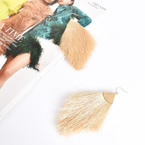 Beaten Soft Fringe Hook Earrings