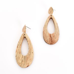 Timber Cut Out Drop Earrings