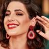 Beaded Jewel Drop Earrings - pr_74738