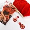 Beaded Jewel Drop Earrings - pr_74740