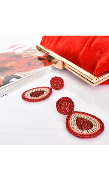 Beaded Jewel Drop Earrings