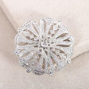 Celtic Pattern  Diamante Brooch