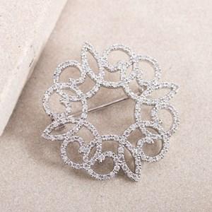 Knot Pattern Diamante Brooch