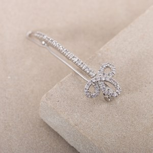 Curl End Diamante Hair Slide