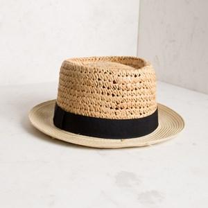 Raffia Mix Fedora Hat