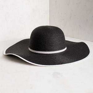 Two Tone Wide Brim Hat