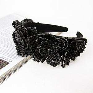 Bugle Bead Flowers Large Headband