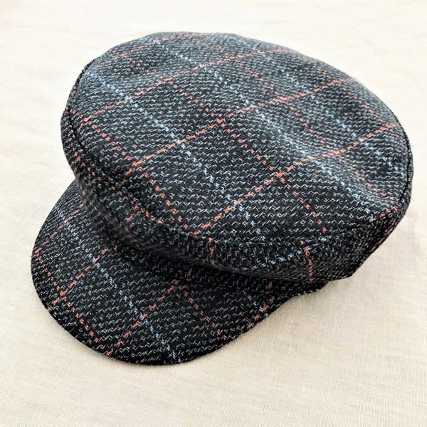 Blake Tweed Check Baker Hat