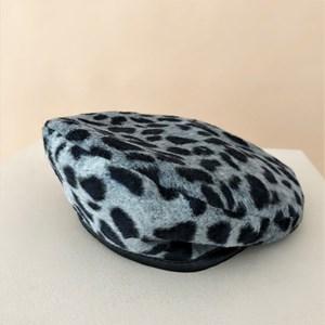 Cara Trimmed Leopard Beret
