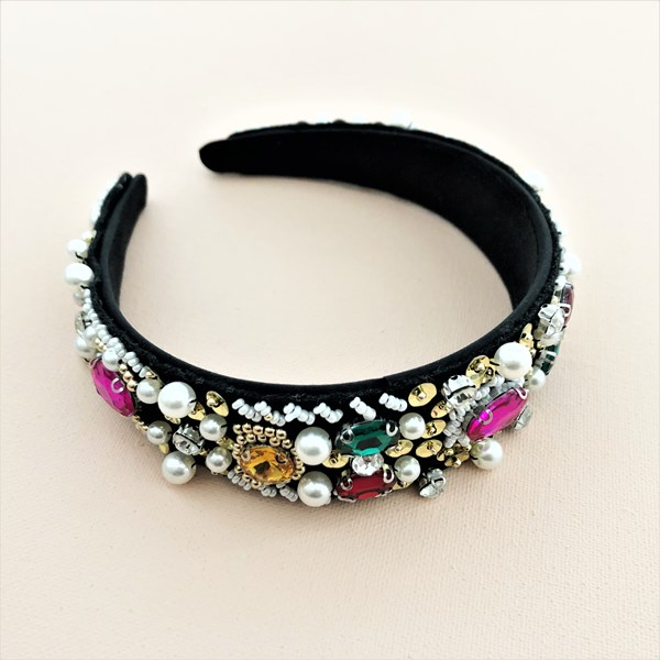 The Blair Embellished Bead & Jewel Headband