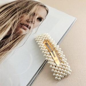 Daniella Pearl Rectangle Hair Clip