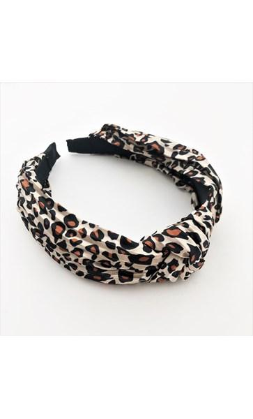 Leopard Pleated Knot Headband