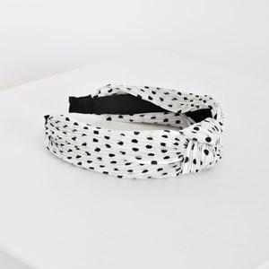 Polka Dot Pleated Knot Headband