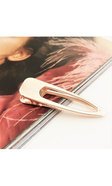 Brushed Metal Cut Out Hair Clip