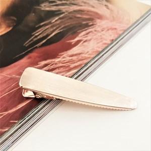 Brushed Metal Hinged Hair Slide