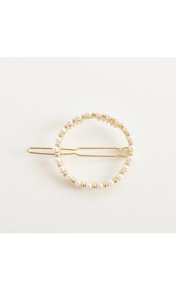 Olivia Pearl Ring Hair Clip