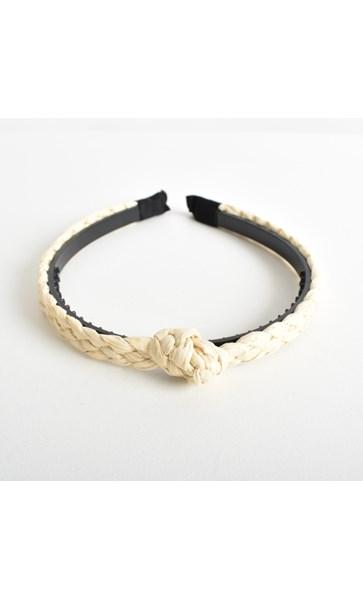 Mali Thin Plaited Raffia Knot Headband