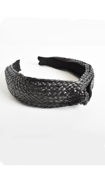 Bonnie Wide Plaited Raffia Knot Headband