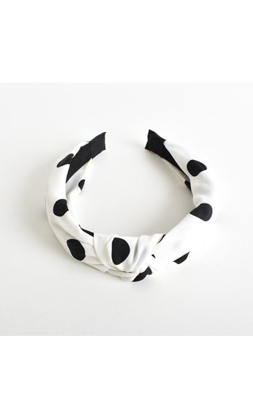Lucille Polka Dot Knotted Headband