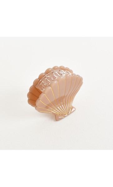 Fan Shell Resin Claw Hair Clip