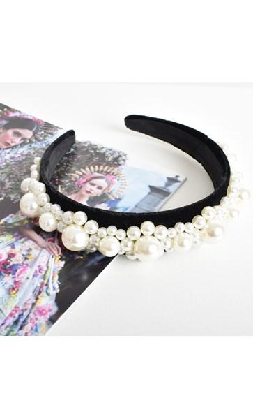 Princess Pearls Wide Headband