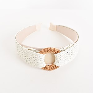 Lillian Rattan Ring Weave Headband