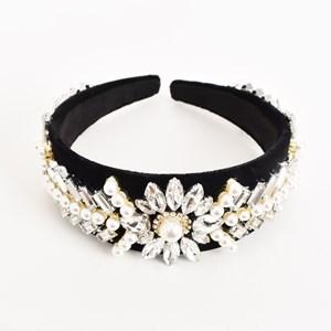 Pearl & Jewel Cluster Headband