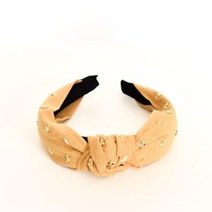 Star Studded Linen Knot Headband