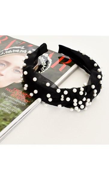Organza Pearl Knotted Headband