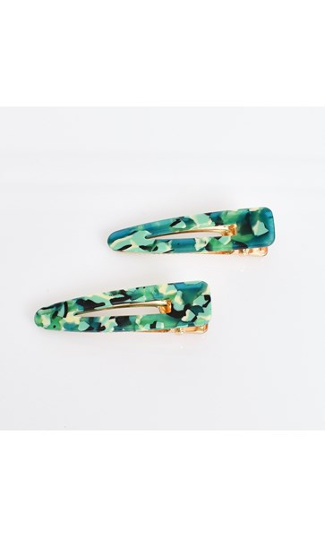 Set of 2 Resin Hinged Clip